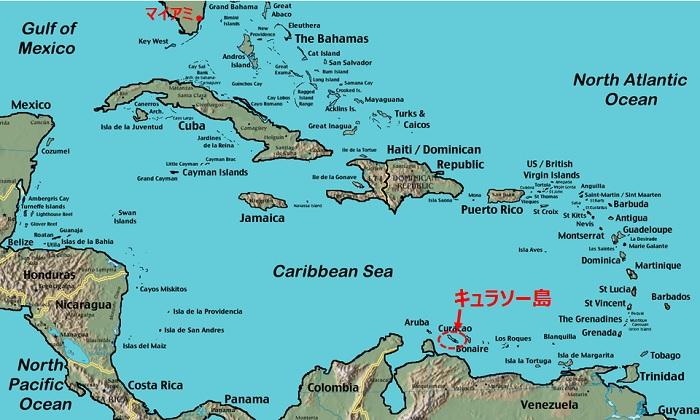 カリブ海のキュラソー島に行って...