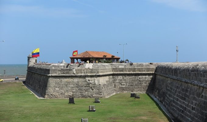 cartagena old town wall 1