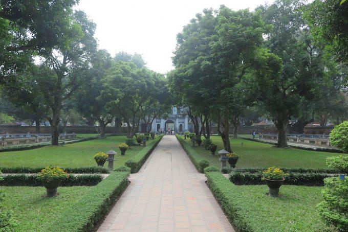 孔子廟の美しい庭